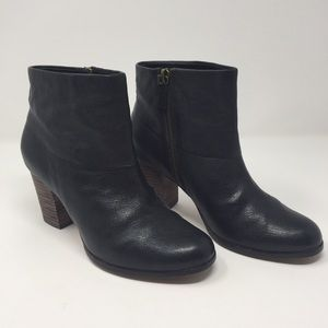Cole Han Cassidy black leather booties